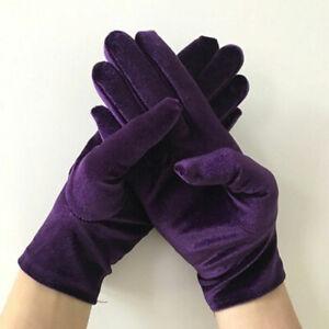 Velvet Wrist Length Gloves For Women Ladies Party Wedding Driving Prom Mittens
