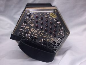 30 Button C/G Anglo Concertina w/Case, See Video