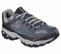 Skechers 4E Wide Width Navy shoes Men's Memory Foam Casual Comfort Leather 50125