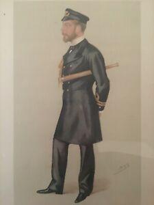 "Vanity Fair 5/24/1890 ""SPY"" 17"" x 20.75"" "" Our Sailor Prince"" Framed matted"
