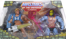 Mattel MOTU Classics Laser Power He-Man and Laser Light Skeletor MIB w Brown Box
