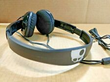 Skullcandy Black/Silver Wired Adjustable Headband Over The Ear Headset