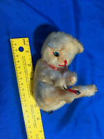 Rare Antique Japan Windup Mohair Toy Cat Dog Bear Motion Animated VTG Old