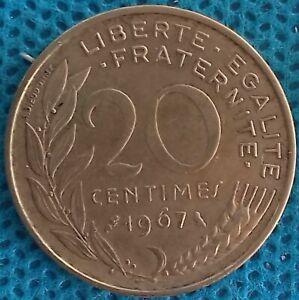 PIÈCE MONNAIE FRANCE 20 Centimes 1967 3 Plis Ref : 0205