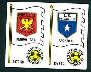 Figurina Calciatori Panini 1979-80 N.567! Scudetti nuova Igea/Paganese! Nuova!!