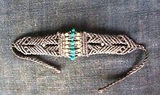 Macrame Beads Brass  Bracelet  Handmade