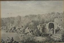 EDWARD DAYES 1763-1804 ORIGINAL 18TH CENTURY PAINTING LA MOLA MENORCA PROVENANCE