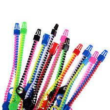 10x/set Zipper Bracelet Bangle Fidget Focus Toys Stress Relief Multi-Color HL