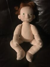 Handmade Waldorf doll -One of a kind! 19 inches tall  soft cotton cloth/ wool