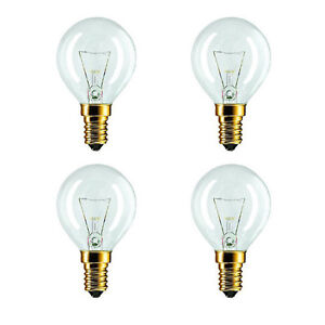 4 x Eveready 40W 240V SES E14 Oven Cooker Bulb Lamp 300°