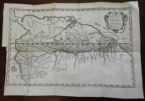 Amazon River System Brazil South America Jesuit Mission c. 1760 Fritz map