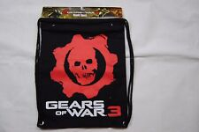 GEARS OF WAR 3 LOGO BACK SACK BAG PACK NEW BAGGED OFFICIAL SHOOTER VIDEO GAME