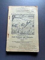 ORIGINAL 1951 British Field Engineering & Mine Warfare Pamphlet No 2 8666