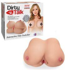 Sex Toys Masturbatori parlante Interactive Titty Fuck-Her Dirty Talk Vibrating