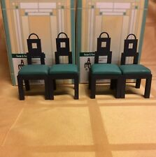 4 Dining Room Chairs Doll House Furniture Take a Seat Raine Collectibles 1:12 Sc