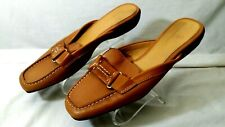 Cole Haan Women Brown Leather Dress Loafer Sandals Sz 8B Air D20287 Display