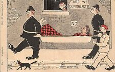 POSTCARD  COMIC  Police  Related    Are we Downhearted....   Quinton