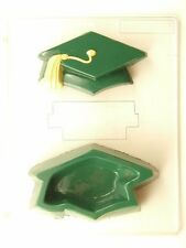 GRADUATION CAP POUR BOX CLEAR PLASTIC CHOCOLATE CANDY MOLD G014