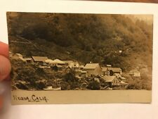 Requa California Awesome Early Real Photo Postcard Of The Town From The Water