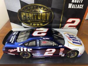NEW Rusty Wallace #2 Miller Lite 1999 Last Lap of the Century 1/24 Ford Bank