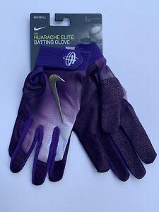 Nike Huarache Elite Batting Gloves Purple SZ L