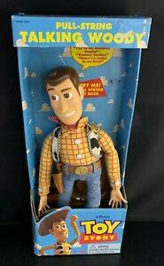 "Toy Story Pull String Talking Woody- 16.5"" Think Way Disney Pixar (In Box)"