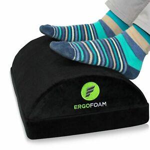 ErgoFoam Adjustable Foot Rest Under Desk for Added Height | Large Premium Vel
