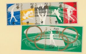 Seychelles 1988 Scott 647, 648 Olympic Games Tennis and Track & Field Strip of 5