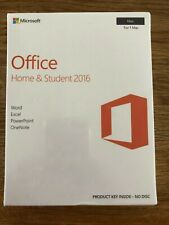 Microsoft Office 2016 Home Student (1 MAC) Word, Excel, PowerPoint, OneNote NEW