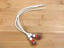 2 BBT Waterproof 120 volt Red LED Low-Profile Indicator Lights