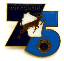 Pin Spilla Lions International Wisconsin 75 cm 3 x 3,2
