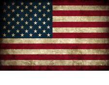 "TIN SIGN ""American Flag Rustic"" Patriotic Garage Wall Decor"