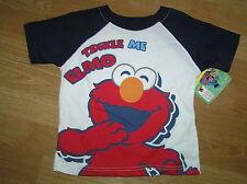 NWT NEW Sesame Street Tickle Me Elmo Short Sleeve Tee T-Shirt Top Shirt Size 3T