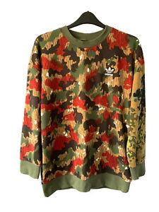 Adidas Pharrell Williams HU oversized Crew Sweatshirt Jumper Camoflage Men M