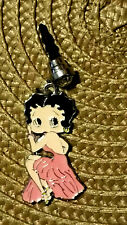 Betty Boop Pink long evening gown cell phone dust plug