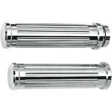 Pro-One Performance 500560 Grooved Billet Grips Chrome 62-1549 DS-243156