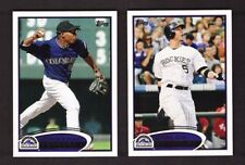 2012 Topps COLORADO ROCKIES Team Set w/ Updates 37 Cards Mint