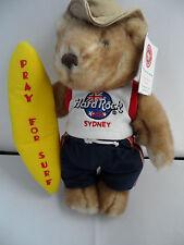 Hard Rock Cafe Sydney - Pray for Surf - Herrington Teddy City Bear Toy With Tag