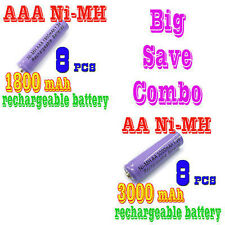16pcs AA +AAA 3000mAh NiMH Battery Rechargeable PURPLE
