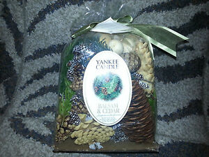 YANKEE CANDLE Dry Potpourri BALSAM AND CEDAR SCENT Christmas 10 oz Bag NEW