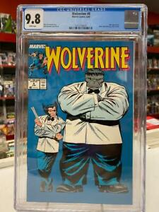 WOLVERINE #8 (Marvel Comics, 1989) CGC Graded 9.8 ~ HULK ~ White Pages