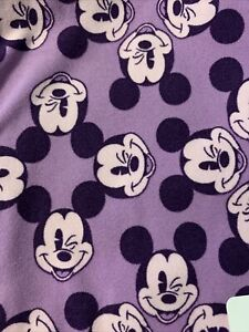 NWT LuLaRoe Disney Leggings One Size OS Winking Mickey Purple