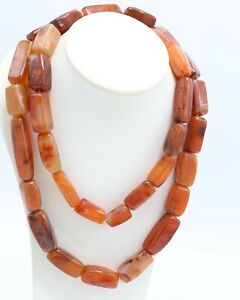 Heavy Red Brown Stone Necklace, Stunning, Chunky, Vintage 1960s
