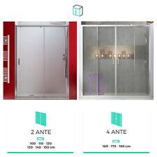 Box doccia nicchia cabina scorrevole vetro cristallo temperato profili alluminio