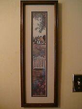 RARE VTG 1989 GLYNDA TURLEY Artwork Print Picture Framed Matted Flowers Garden
