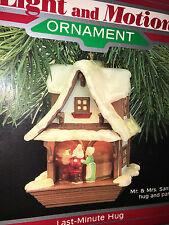 HALLMARK Keepsake 1988 LAST MINUTE HUG Light Motion SANTA CHRISTMAS ORNAMENT New