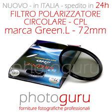 Filtro Polarizzatore Green.L CPL 72mm Canon Nikon Sony HD 72