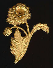 RICH 24K Gold Plated Brass RIVETED FLOWERS 48m #ST26