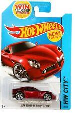 2014 Hot Wheels #29 HW City Night Burnerz Alfa Romeo 8c Competizione red