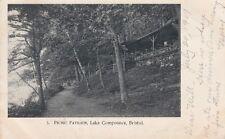 Antique POSTCARD c1907 Picnic Pavilion Lake Compounce Park BRISTOL, CT 13543